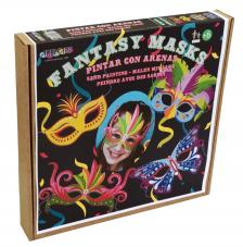 Pintar con arenas. Máscaras Carnaval Fantasy