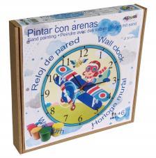 Pintar con arenas. Reloj Aviador Ø30 cm