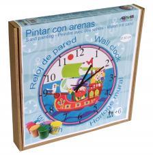 Pintar con arenas. Reloj Barco Pirata Ø30 cm