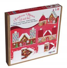 Pintar con arenas. Pack 2 Casitas Automontables Navidad