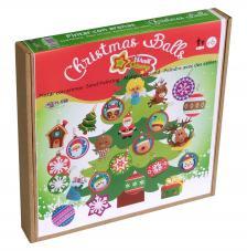 Pintar con arenas. Pack 36 bolas Árbol Navidad