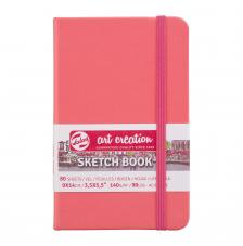 Cuaderno boceto tapa dura cosida Rojo Pastel Art Creation 80 hojas 140 g/m2. 9x14 cm