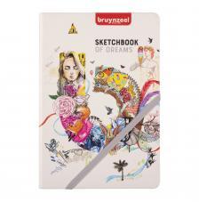 Cuaderno boceto tapa dura cosida Bruynzeel 80 hojas 140 g/m2. 14,8x21 cm