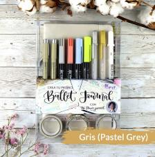 Set Bullet Journal Gris Pastel