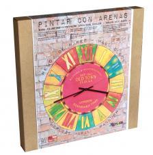 Set Pinta Reloj Pared con arenas. Old Town London