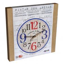 Set Pinta Reloj Pared con arenas. Antiquite Paris