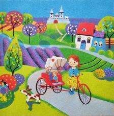 Bici Carrito 38x38 cm