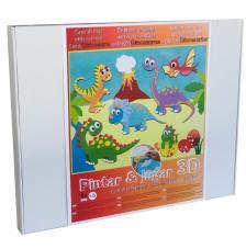 Pinta y juega con arenas de colores. Dinosaurios