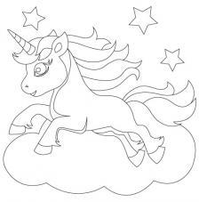 Unicornio 1. 20x20 cm Precortado