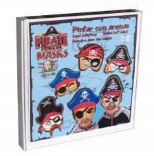 Pintar con arenas. Máscaras Piratas para niños