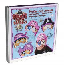 Pintar con arenas. Máscaras Piratas para niñas