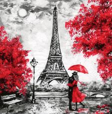 20 servilletas. Torre Eiffel Rojo