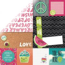 Papel doble cara 30,5 x 30,5 cm. Sweet