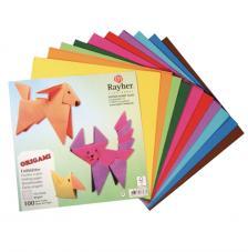100 hojas Origami 15x15 cm. Colores