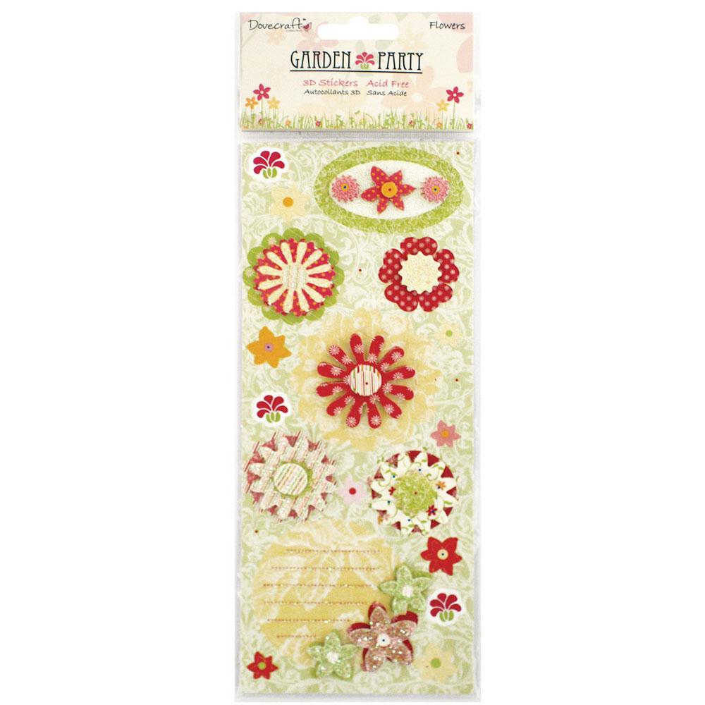 3D Sticker Garden Party. Surtit Flors