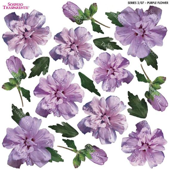 Sospeso transparente prediseñado Purple Flower 23x23 cm