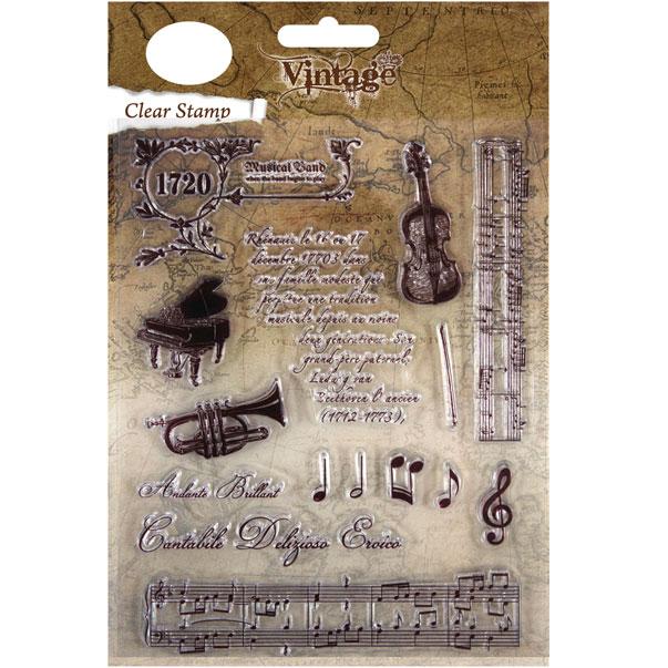 Sello de Silicona,1 a 12,5cm. Vintage Musica