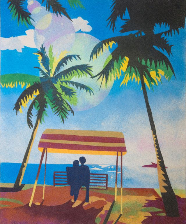 Caribbean. 50x61 cm