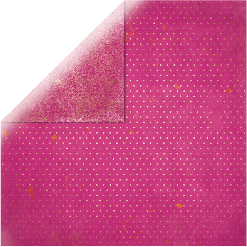 Papel doble cara 30,5 x 30,5 cm. Rosa
