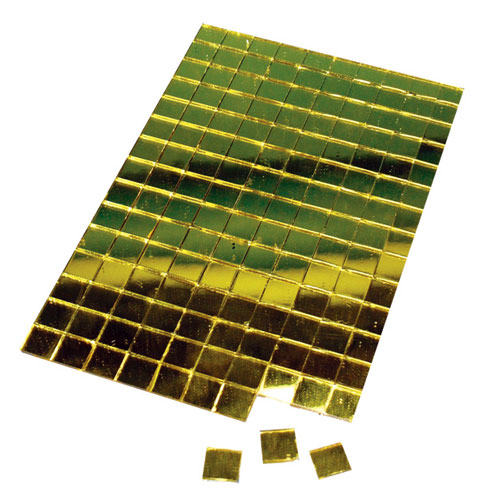 Mosaico adhesivo 1x1 cm. 150 pzas. 4 colores