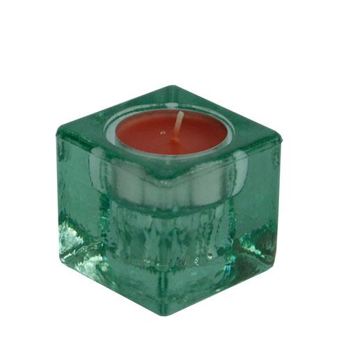 Base de vidre per espelma  5x5x5 cm
