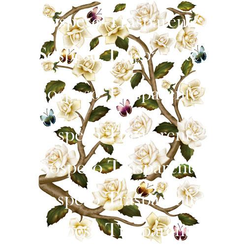Rose decoupage paper 35x50 cm