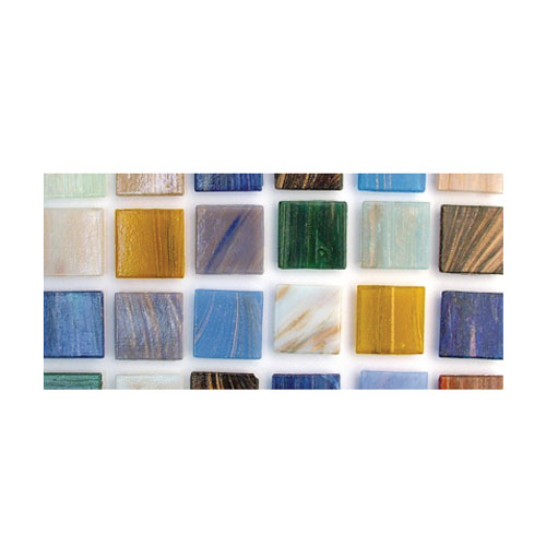 Teselas resina Deluxe tonos mezclados 2x2cm.160 pzas