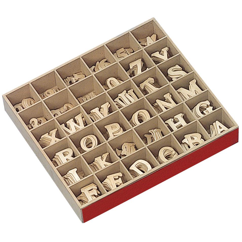 Expositor 37x32x5 cm letras y numeros dm 4cm