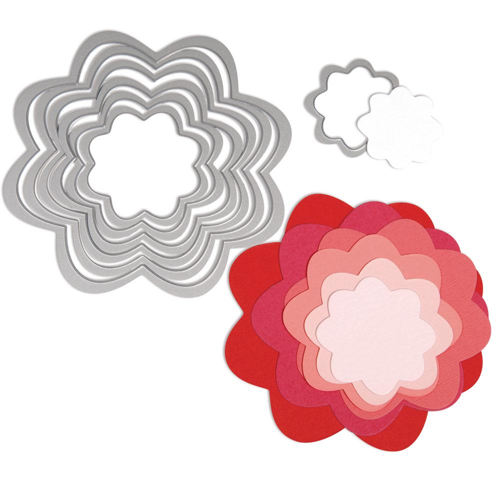 Troquel Framelit Sizzix. 7 flores