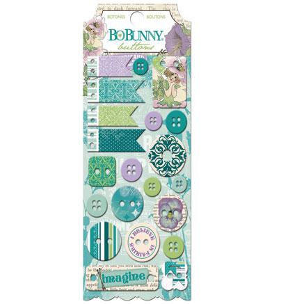 21 botones resina y cuero. Enchanted Garden