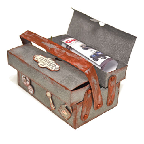 Patron caja herramientas 16x10,5x10 cm