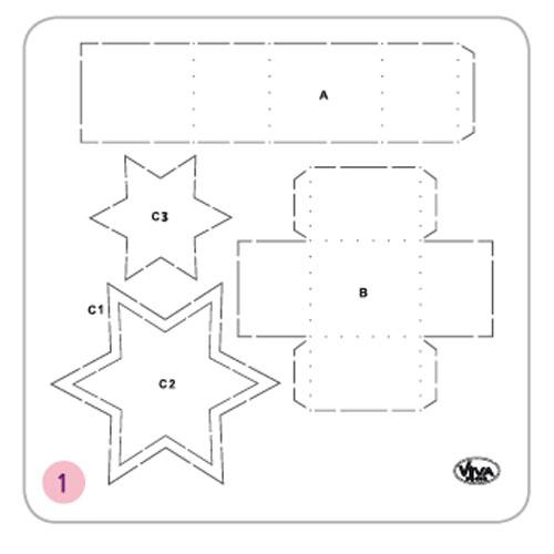 Patro estrella 12,5x14,5x5,5 cm