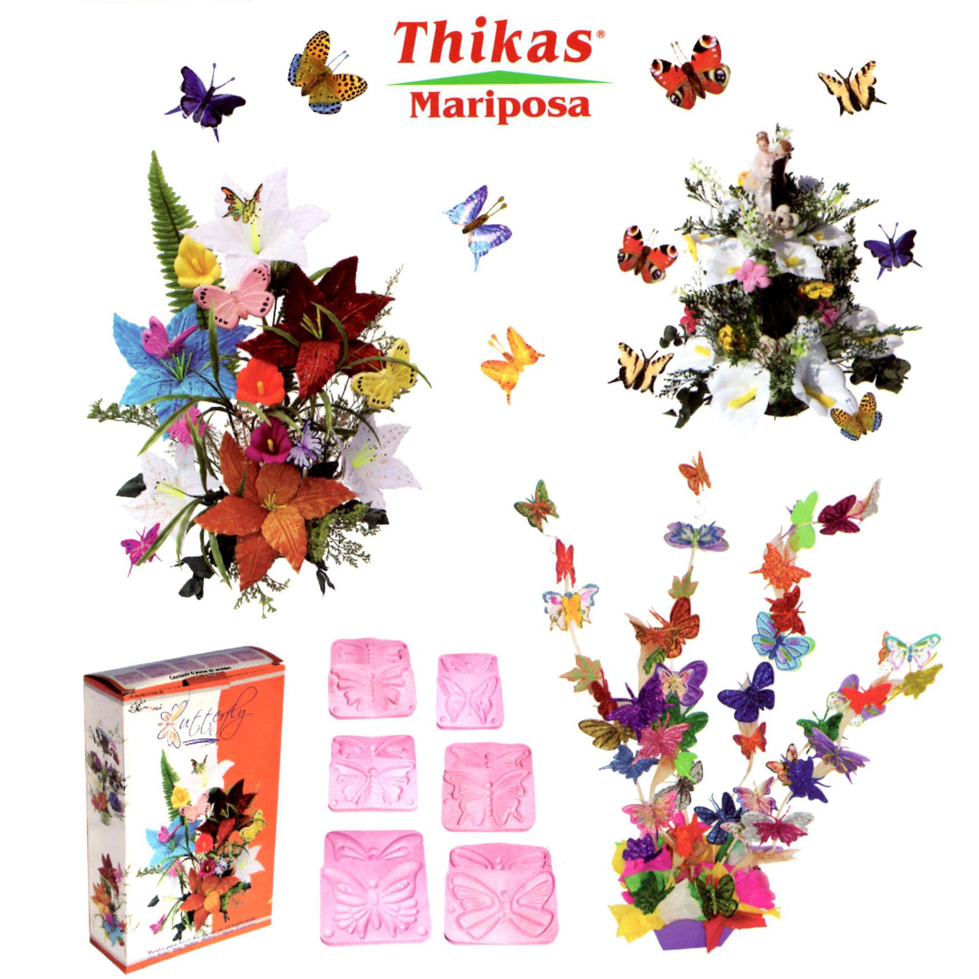 Thikas Mariposas. 4 pares de moldes para termoformado