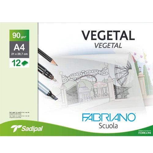 Sobre 12 hojas papel vegetal 90 gr/m2. A4
