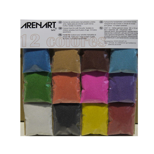 12 Sand Colors assortment set