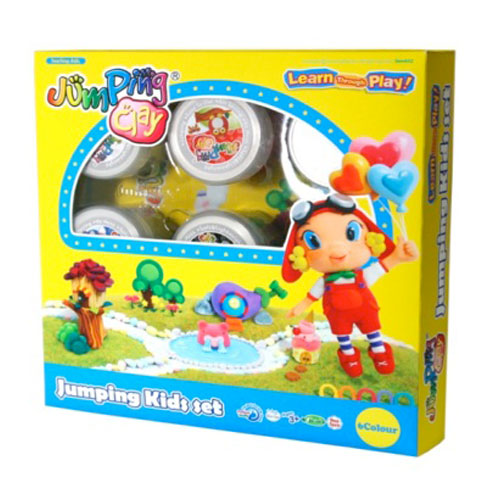 Kit jumping clay 6 colors. Kids set