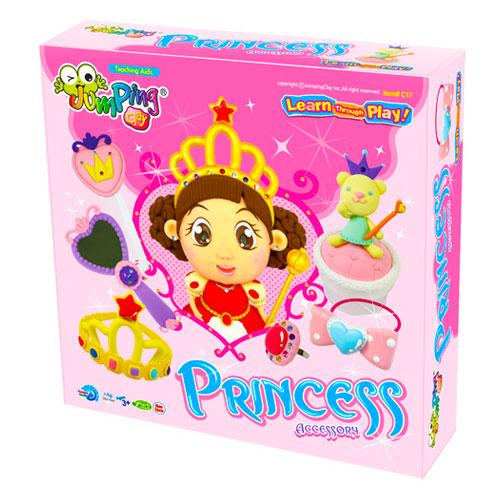 Kit jumping clay 6 colors. Princesa