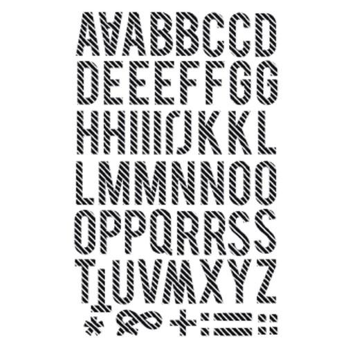 Sticker Minc Alfabet 58 pces
