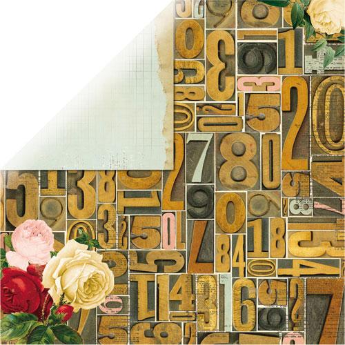 Papel doble cara 30,5 x 30,5 cm. Juliet Abundance