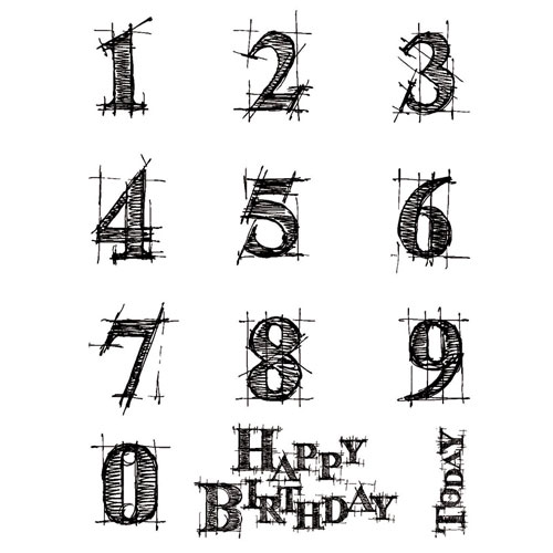 Rubber Stamp A6 Numbers