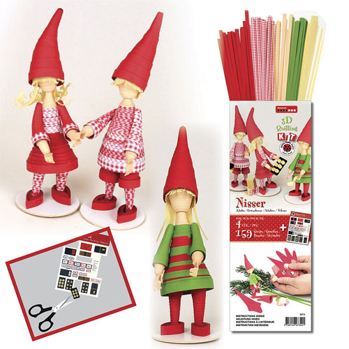 Kit quilling gnomos adultos 3D