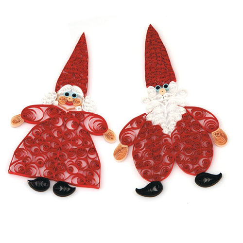 Kit quilling Santa Claus