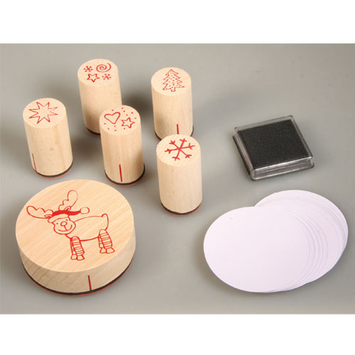 Stamp Kit wood Christmas Reindeer