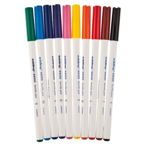 Edding 10 rotuladores para ropa 1 mm. Colores surtidos 1