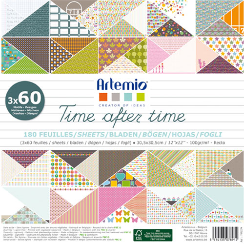 180 papeles 30,5 x 30,5 cm. Time after time