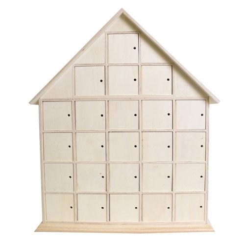 Calendario de adviento 44,5x35x7 cm. Casa