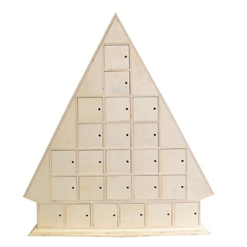 Calendari d'advent 43,5x51x8 cm. Arbre