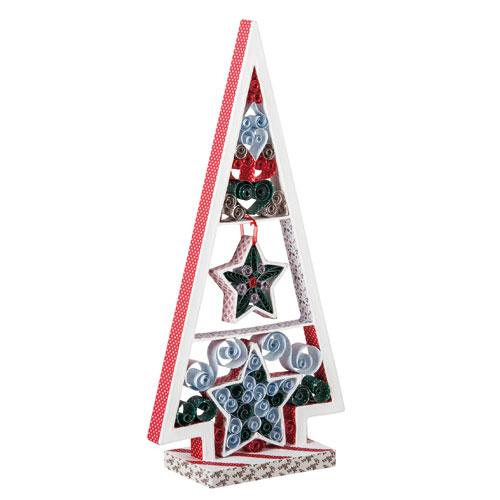 Arbol navidad cartón 15x6x31cm
