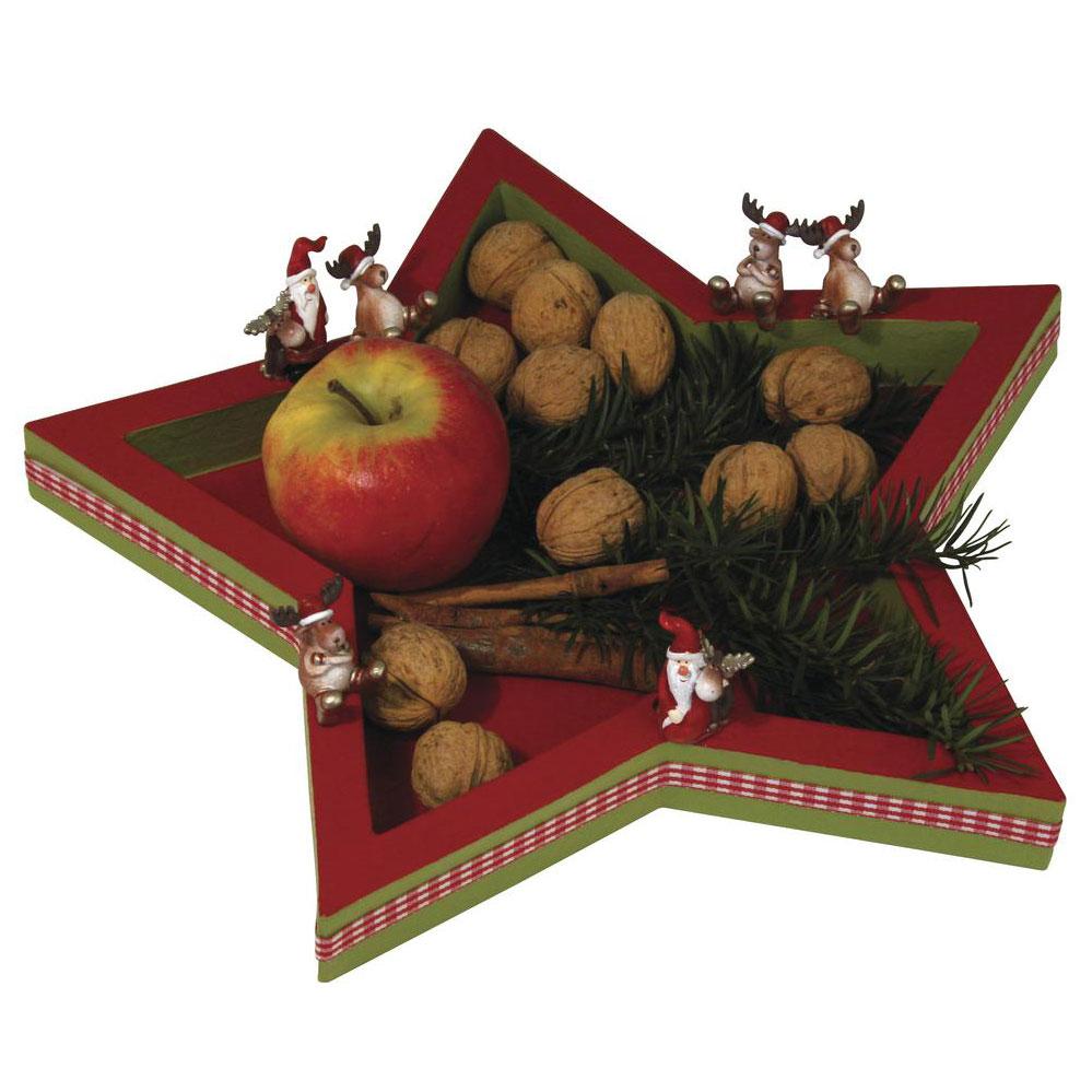 Estrella navidad cartón 41x41x3 cm