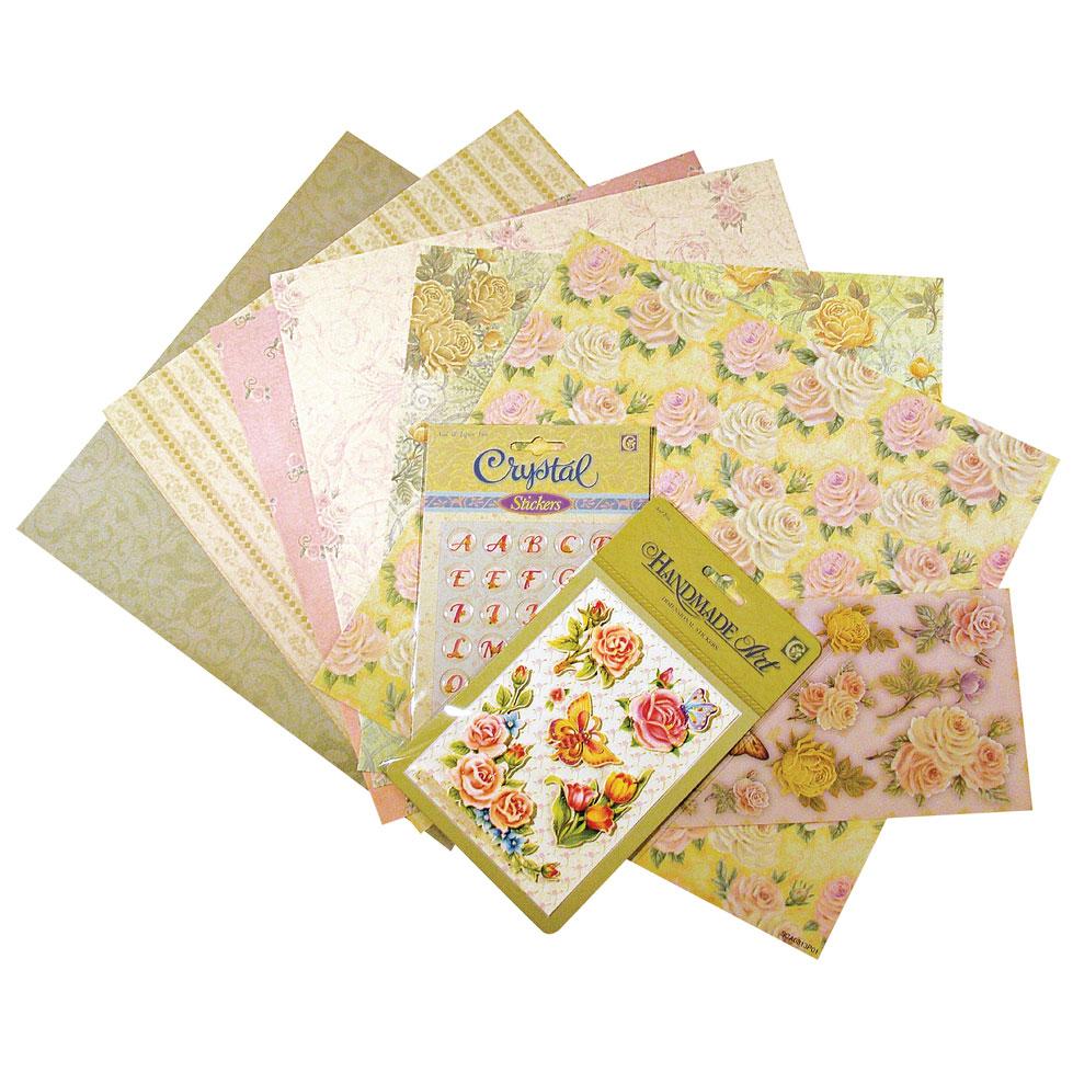 Kit scrapbooking Rosas